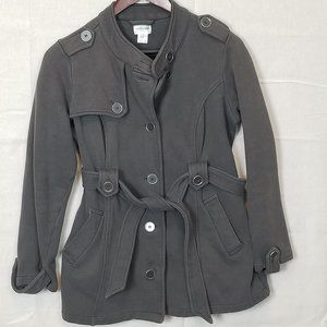 Motherhood Maternity Military Style Belted Coat M